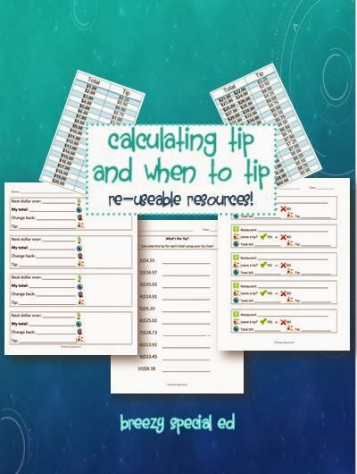 Teaching students how to tip at restaurants special education community education for special education tipping at restaurants ibookread Read Online