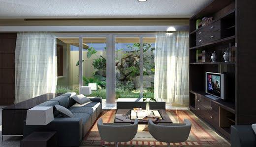 Gambar Desain Taman Dalam Rumah Ruangan