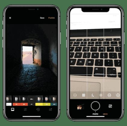 تطبيق VSCO,iphone x