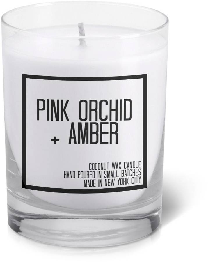 JS Candle Studio Pink Orchid and Amber Votive