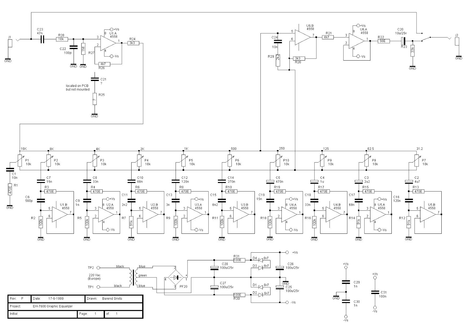 10 band graphic equalizer schematic 3r bl fotografie de \u2022