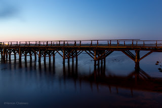 Copyright Vernon Chalmers: Different views of the two Woodbridge Island bridges, Milnerton Cape Town