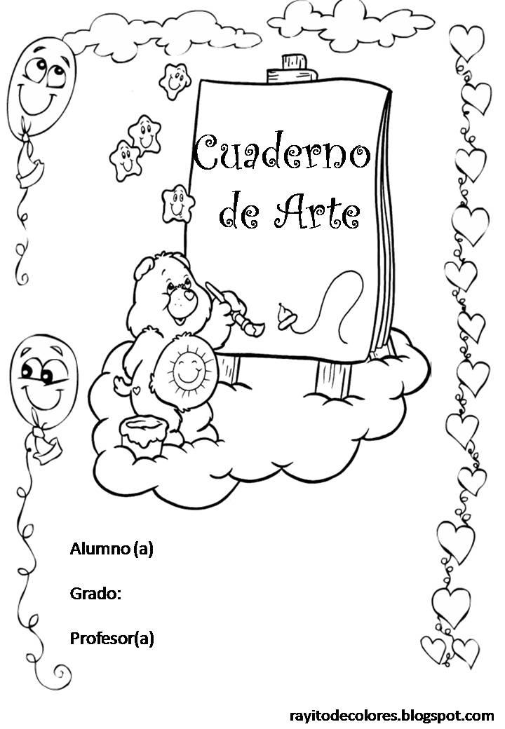 Carátula para cuaderno de Arte