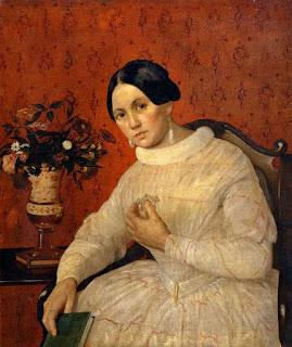 Хруцкий Иван Фомич (Трофимович)  «Портрет неизвестной в белом платье, с книгой»