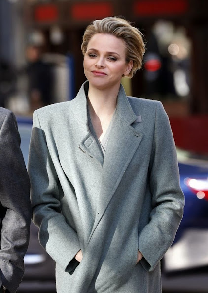 Princess Charlene of Monaco attended the inauguration of a coffee shop company store 'Starbucks' in Monaco