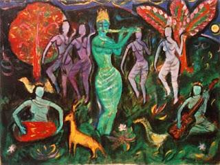 Lukisan karya Otto Djaya dengan tema penggodaan
