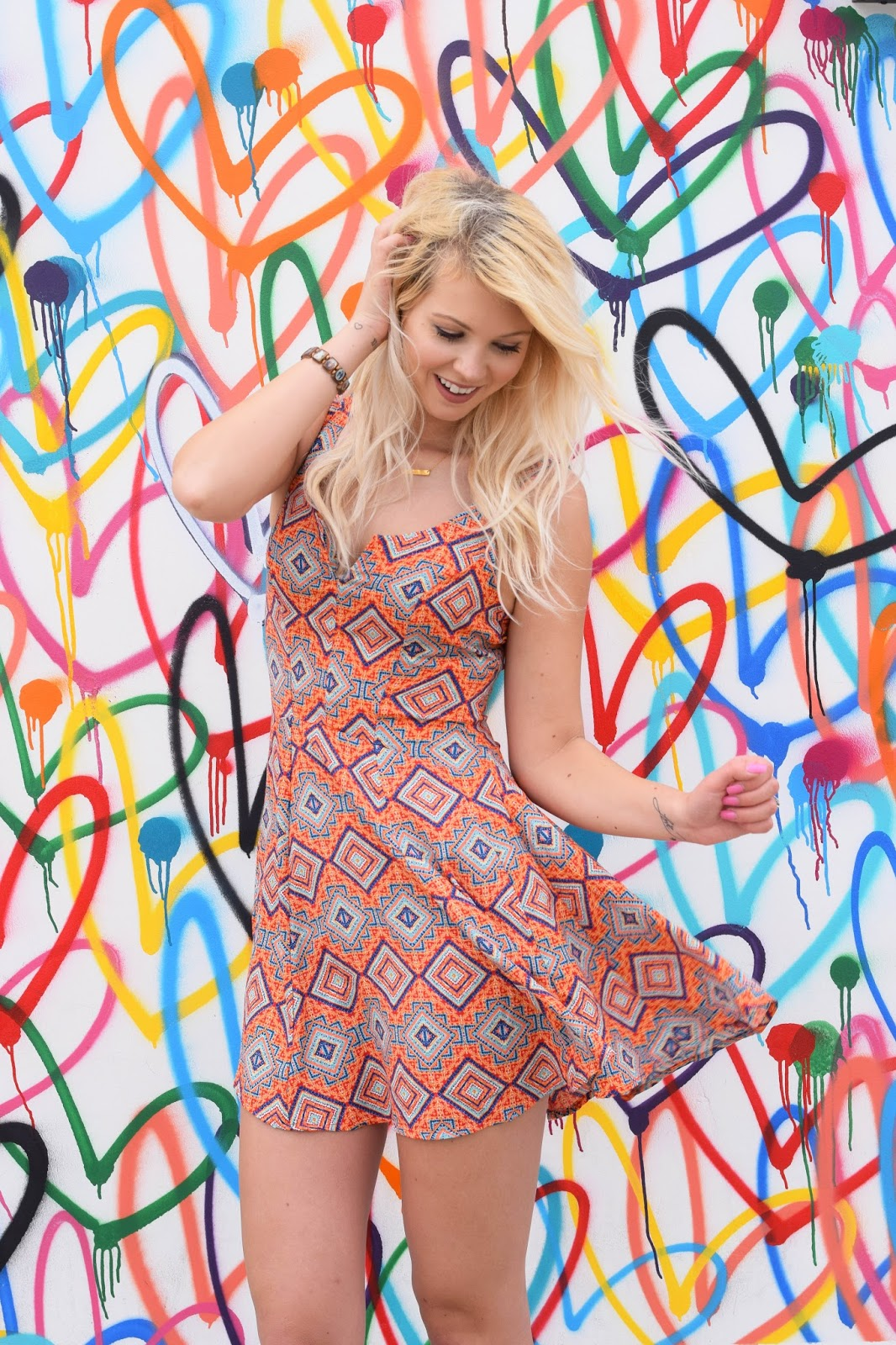 organe dress, bebop clothing, bebop dress, orange, venice, heart wall venice, denim, summer dress, bohemian dress