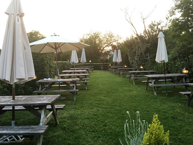 Bricklayers Arms, Flaunden - Beer Garden view away from the pub