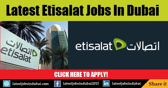 Etisalat UAE careers and jobs in Dubai
