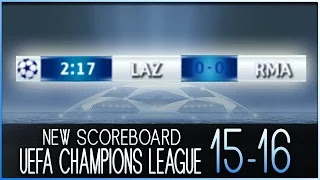 PES 2013 NEW Scoreboard Champions League 2016