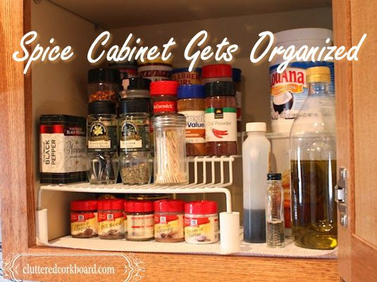 Spice cabinet gets organized in a unique way