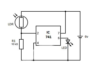 Beautiful Ldr Led Crest - Schematic Circuit Diagram ...
