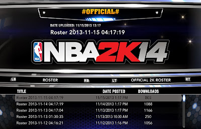 NBA 2K14 Roster Update 11/15/13