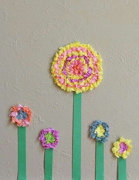 http://buggyandbuddy.com/flower-crafts-kids-textured-tissue-paper-flowers/