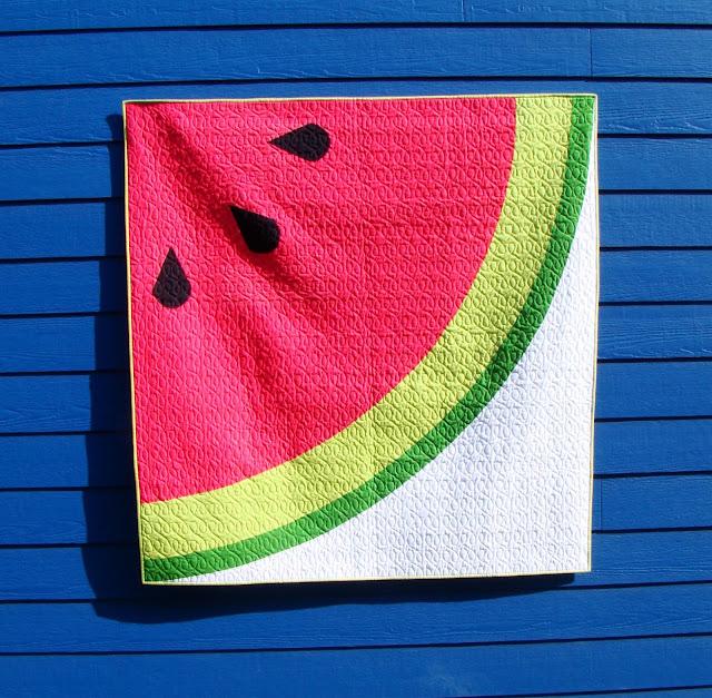 Sliced modern watermelon quilt