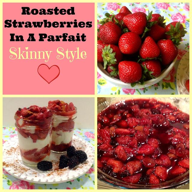 strawberry skinny dessert with yogurt
