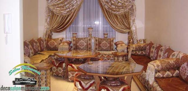 Salon marocain avec un style de décoration splendide