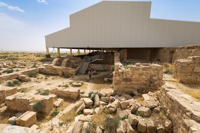 Vista general de Umm ar-Rasas, Jordania