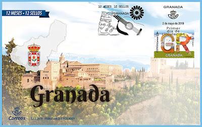 Granada - 12 meses, 12 sellos - Sobre Primer día - 02 05 2019-edit