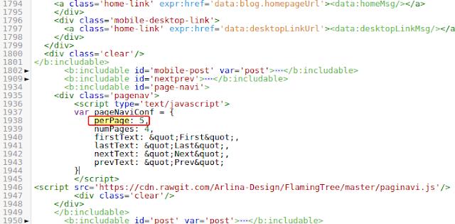 Mengatur Jumlah Postingan di Setiap Halaman Blog