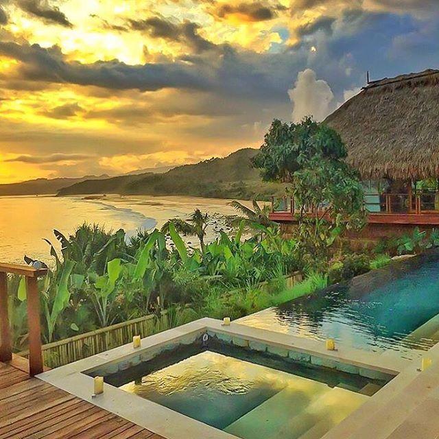 foto resort di pantai nihiwatu