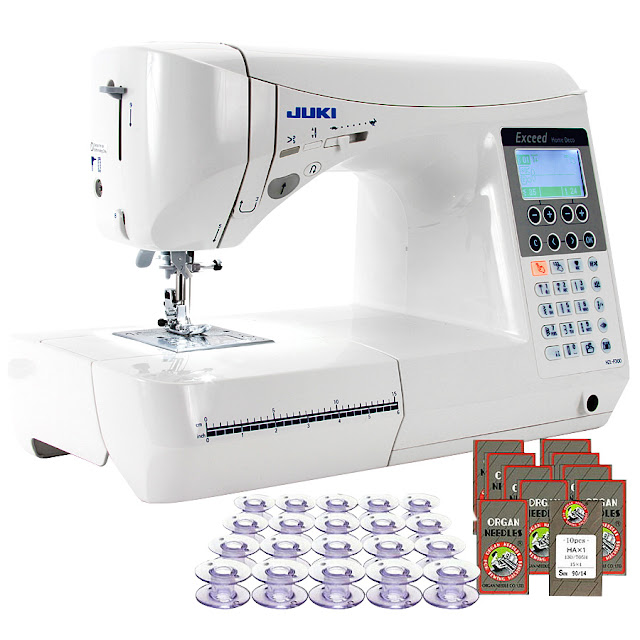Juki HZL-F300 Exceed Series - Computer Sewing Quilting Machinew/ 20 Bobbins and 100 Needles