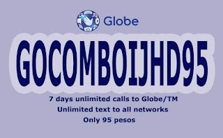 Globe GOCOMBOIJHD95 – 7 days Free FB with Unli Calls and Allnet Texts
