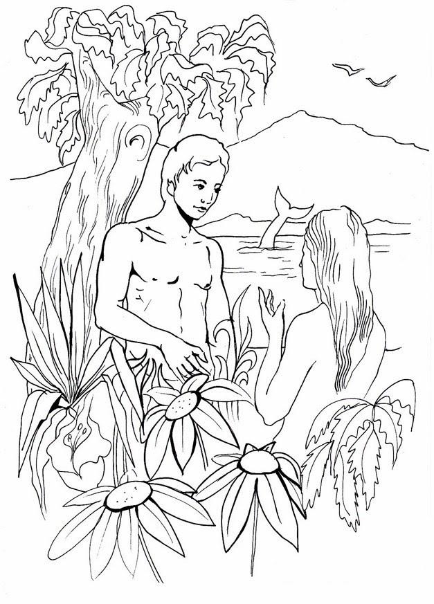 Adán Y Eva En El Huerto Del Edén