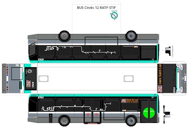 Maquettes transport - Dessiner un bus ...