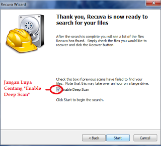 Mengembalikan File yang Terhapus Menggunakan Recuva