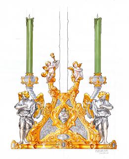 Naranjo Beltrán diseña el nuevo trono para la Vera+Cruz de Almogía