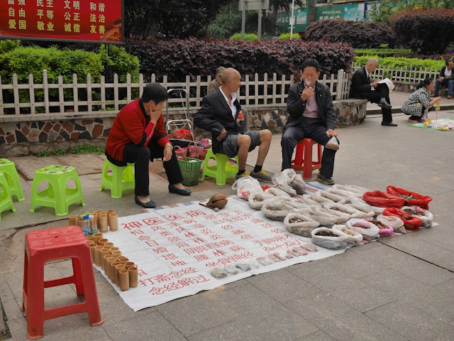 outdoor cupping therapy in Hengyang, Hunan