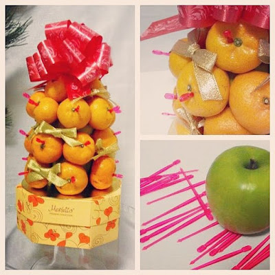 xmas fruit bouquet treat