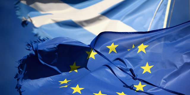 Image Attribute: The Scottish and EU Flags / Source: Getty Images / Photo ID: 480323083