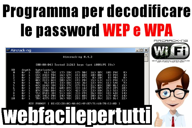 Aircrack-ng | Programma per decodificare le password WEP e WPA