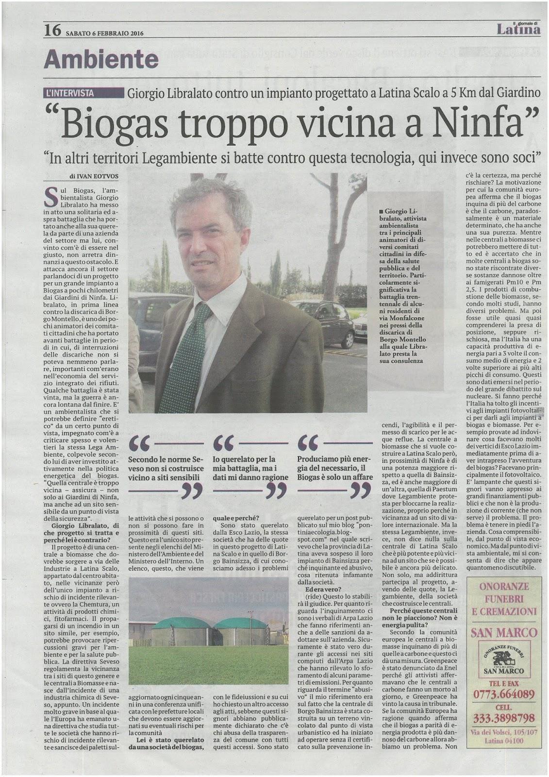 Pontinia Ecologia E Territorio La Centrale A Biomasse Di