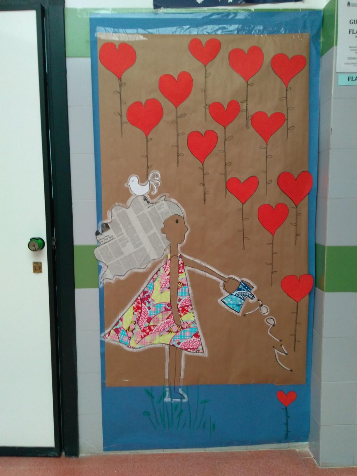 Imagenes de puertas decoradas para el mes de febrero for Puertas decoradas del 14 de febrero