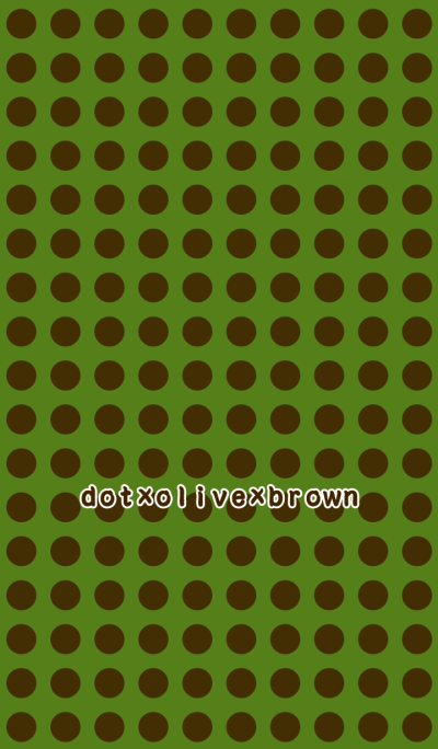 dot×olive×brown*