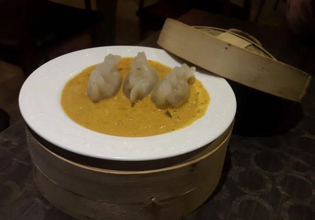 Chicken Dumplings in Thai Yellow Curry