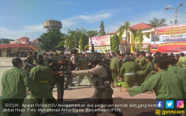 Ngeri, Anggota PSHT dan Persinas Bentrok di Halaman Polres