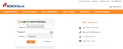 Icici Net Banking Online Registration For New User