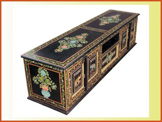 Hand Painted Tv Stand Unit Cabinet Large Dvd