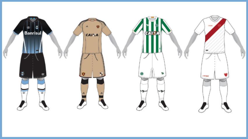 ÁLBUM DOS MANTOS - CBF atualiza Cadastro de Uniformes do Brasileirão 2016   Terceira camisa de Grêmio cd261c1e810eb