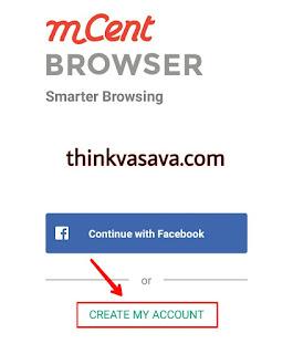 Create a account par click kare