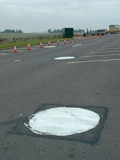 Stonehenge visitor's car park post holes