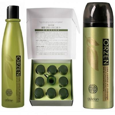 Bộ sản phẩm chống rụng và kích thích mọc tóc Orzen Hàn Quốc