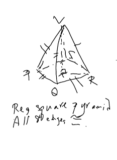 MathNotations: SAT GEOM: A special regular square pyramid