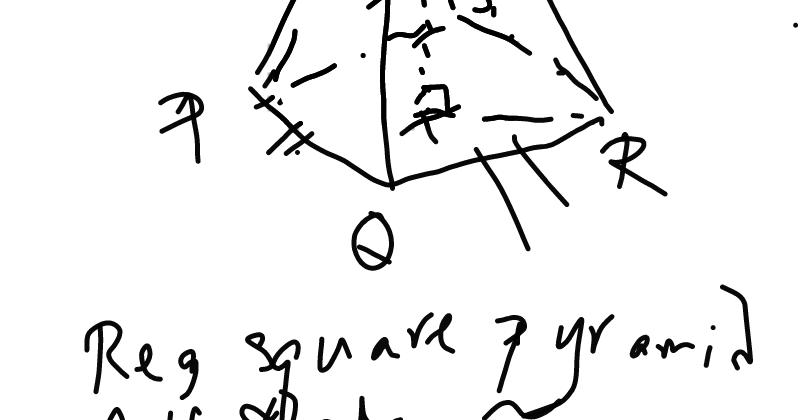MathNotations: SAT GEOM: A special regular square pyramid