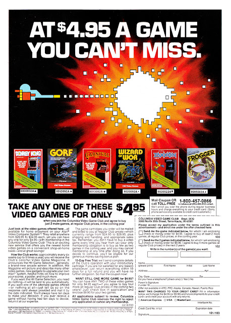 Retro Scans: Columbia Video Game Club