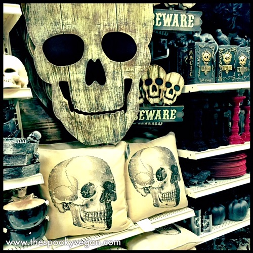 full sized skellies and lots of home goods - Michaels Halloween